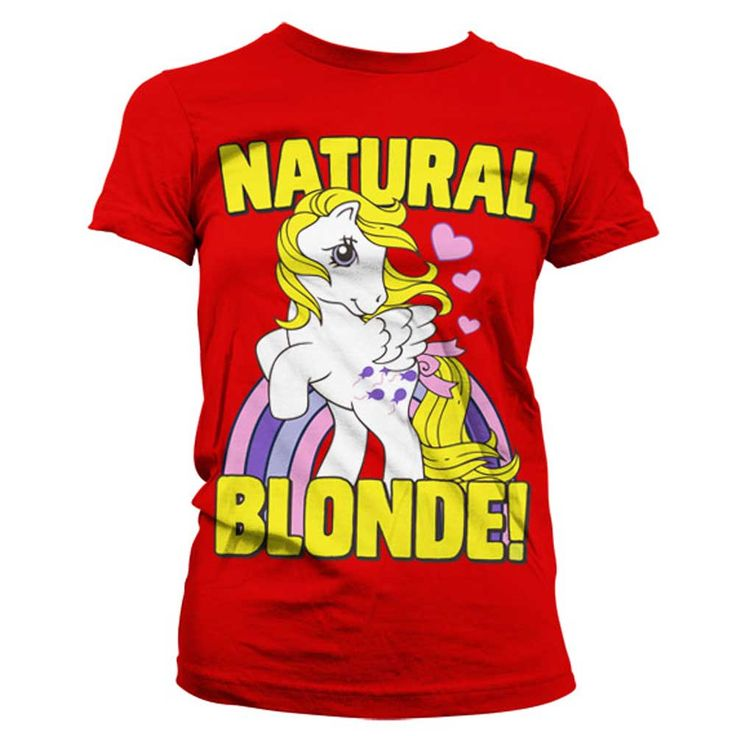Hybris My Little Pony - Natural Blonde dames T-shirt rood - Televisie