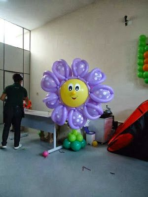cmo hacer flores con globos decoracin con globos
