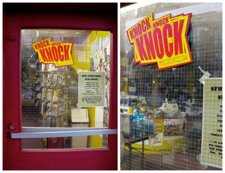 Comic Shop: Knock knock