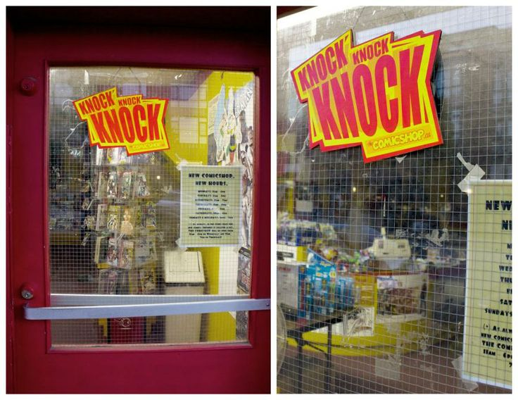 Comic Shop: Knock knock