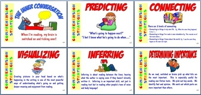 Comprehension Strategies. Lots of free posters on this site.