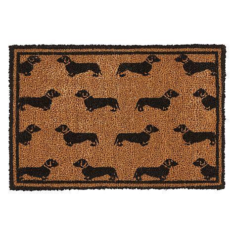 Buy Emily Bond Dachshund Doormat Online at johnlewis.com