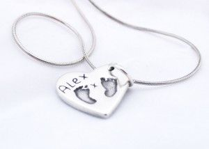 jewellery with hand prints - Charm Necklace