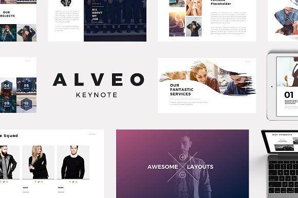 Alveo Minimal Keynote Template by Slidedizer on @creativemarket