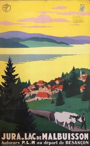 #Jura Lac de Malbuisson  Affiche mises en vente le vendredi 15 septembre 2017, par Damien Voglaire - Les ventes Ferraton.  Dernier jour d'exposition mercredi 13 septembre de 10 à 18h.  Détails sur www.ferraton.be  #affiche #poster