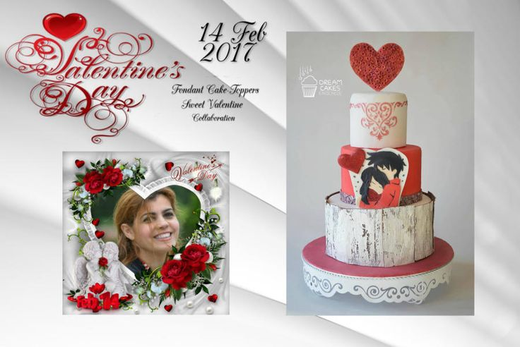 Sweet valentine collaboration 2017 by Dream Cakes Enschede