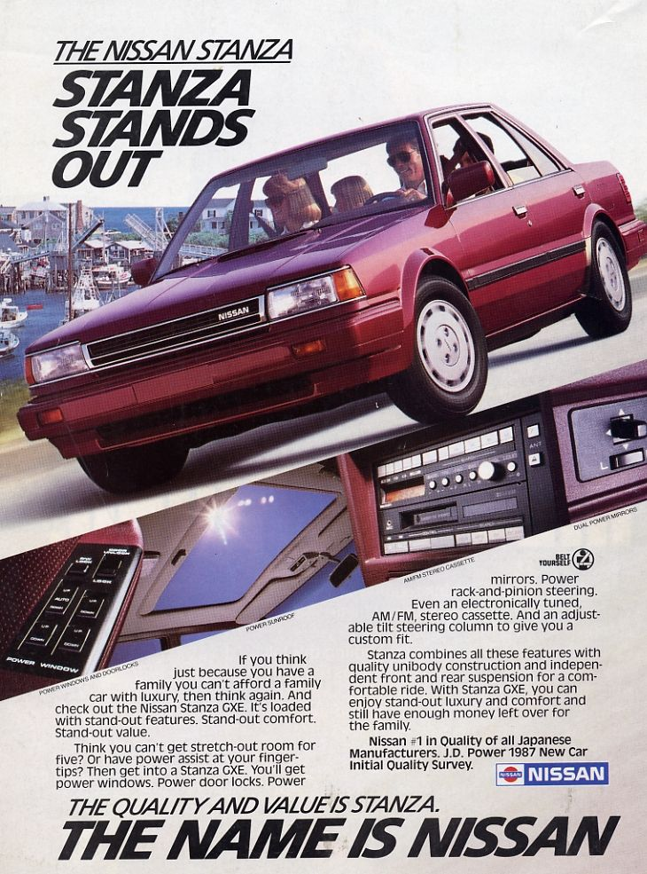 1987 Nissan Stanza Ad #hoseltonsellsnissans www ...