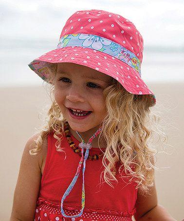 Look what I found on #zulily! Pink Bluebell Reversible Bucket Hat #zulilyfinds