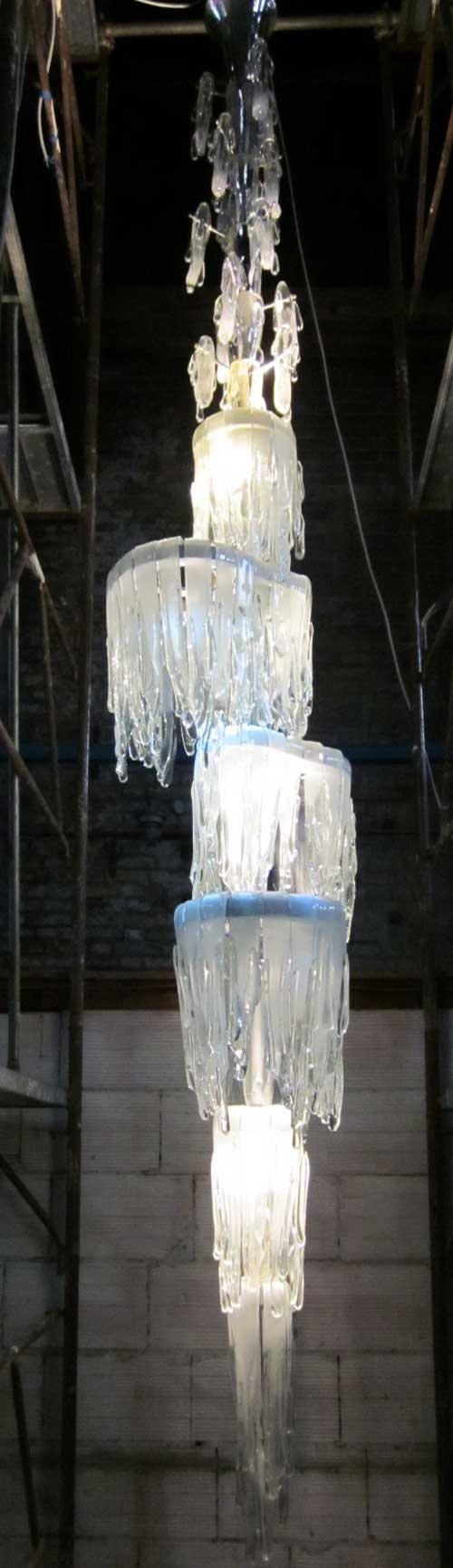 CATARATA.. obra de mi amigo Aristide Najean,  autor de grandes creaciones con cristal de Murano.