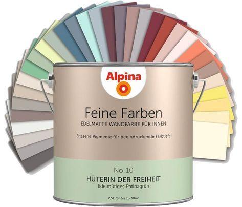 Alpina Feine Farben Edelmatte Wandfarbe für Innen, alle