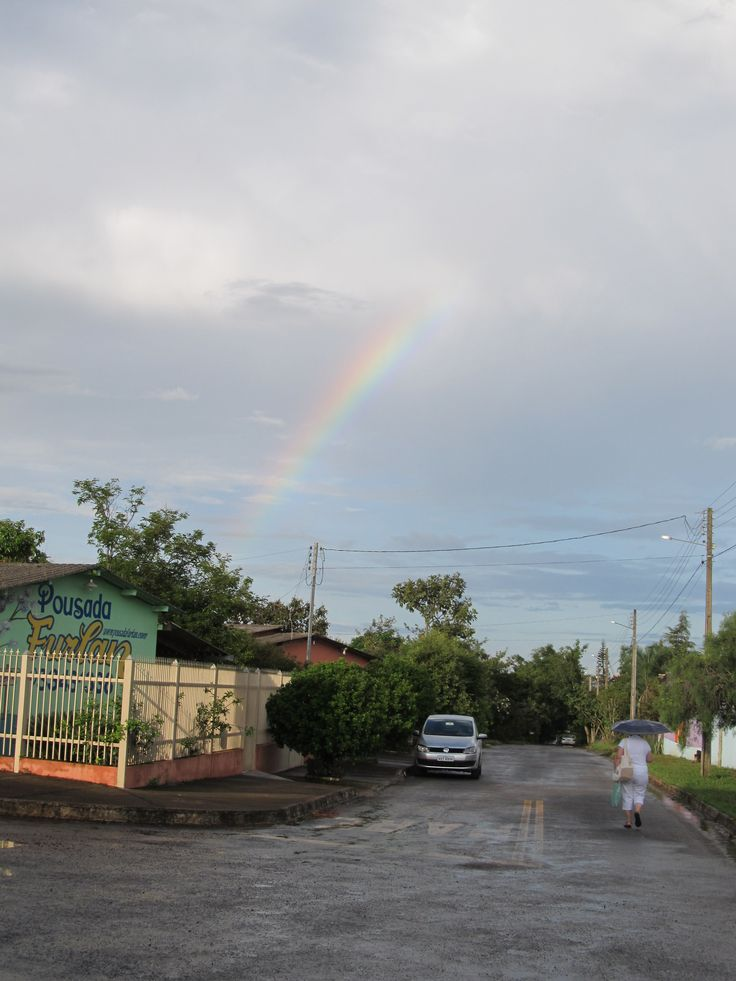 Rainbow over Abadiania seen from Pousada Furlan   #JohnofGod #CasadeDomInacio #energyhealing #faithhealing #entities #Abadiania #PousadaFurlan
