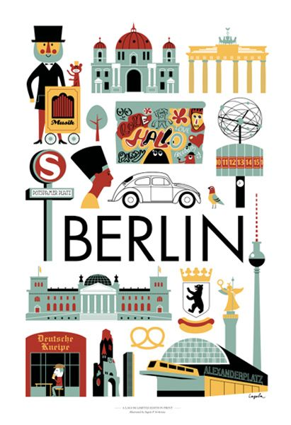 Ingela Arrhenius designed a Berlin poster