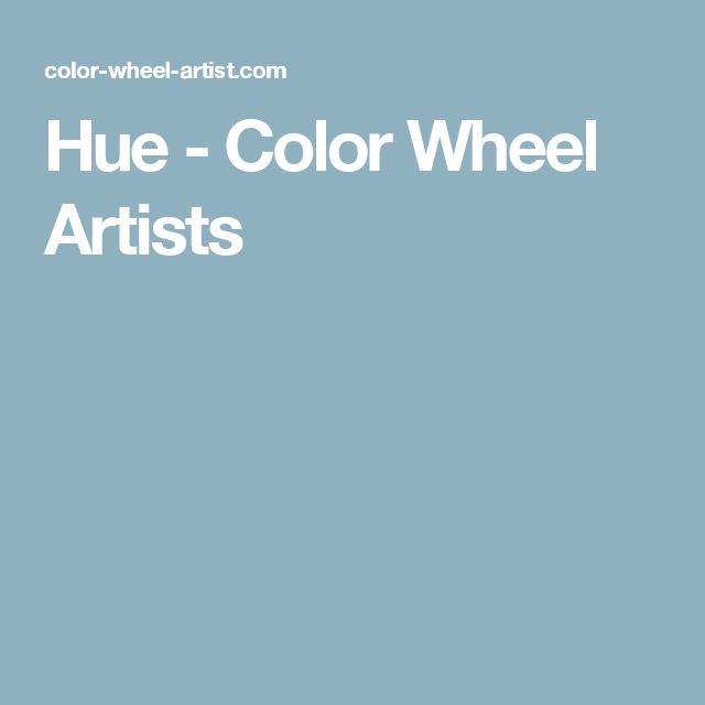 Hue - Color Wheel Artists