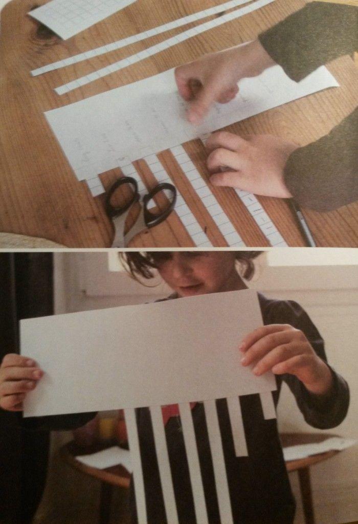 la bande des âges Représentation du temps enfantaide à visualiser âges des personnes et de comprendre une échelle temps. Sur une bande de papier horizontale, l'enfant (ou ses parents) écrivent le nom de plusieurs membres de la famille, le plus jeune en haut, le plus âgé en bas. L'enfant découpe ensuite des bandes dans un papier quadrillé puis compte les carreaux : 6 carreaux pour 6 ans par exemple. Il colle bande découpée à côté de son nom. Il répète découp, comptage, collage pour chaq pers.