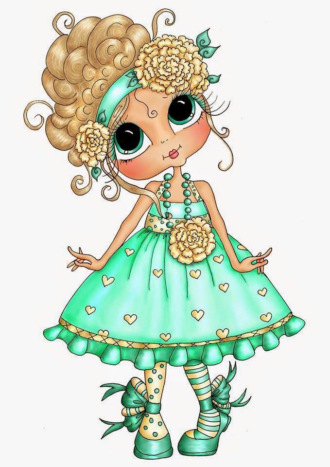 Картинка кукла с бусами для детей