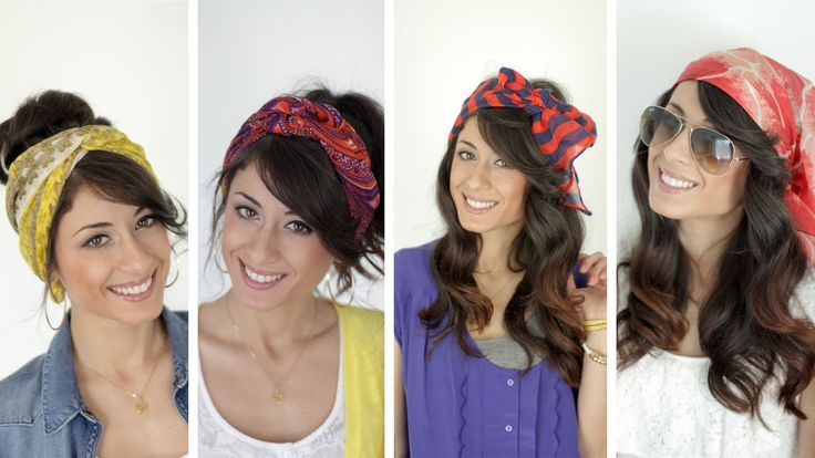 Four Ways to Wear Head Scarves