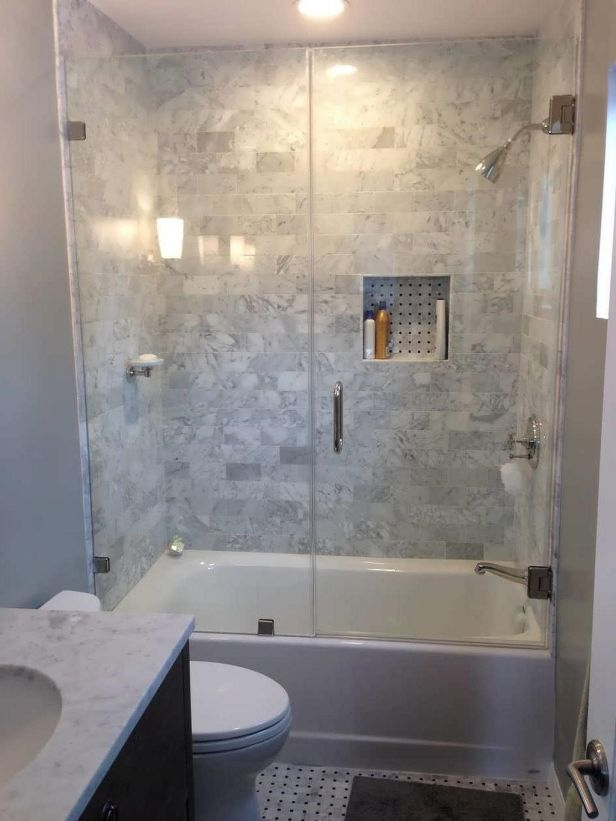 Tiny Bathroom Tub Shower Combo Remodeling Ideas 56