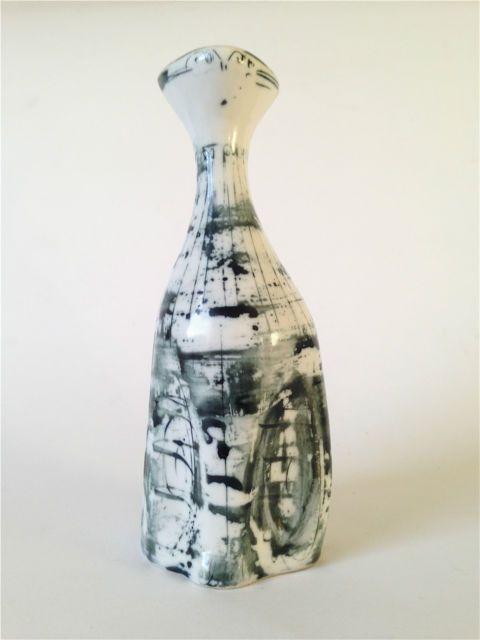 Richard and Susan Parkinson Studio Pottery Porcelain Cat - c.1950s