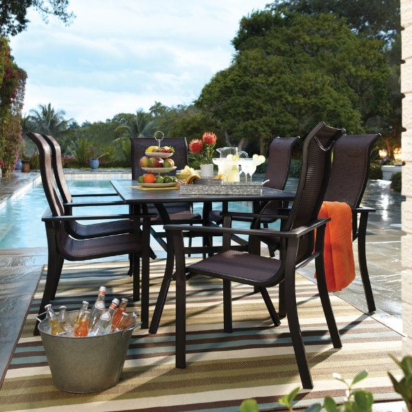 The Rugby Dining Offers A Modern Trendy Style To Any Backyard. Enjoy The  Summer Months. Steel TableArt VanTrendy ...