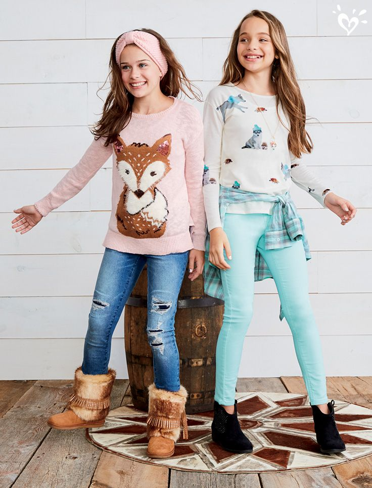 Can you hear it? It's the call of the wild! Faux fur boots, soft critter sweaters, nature prints and perfect jeans!