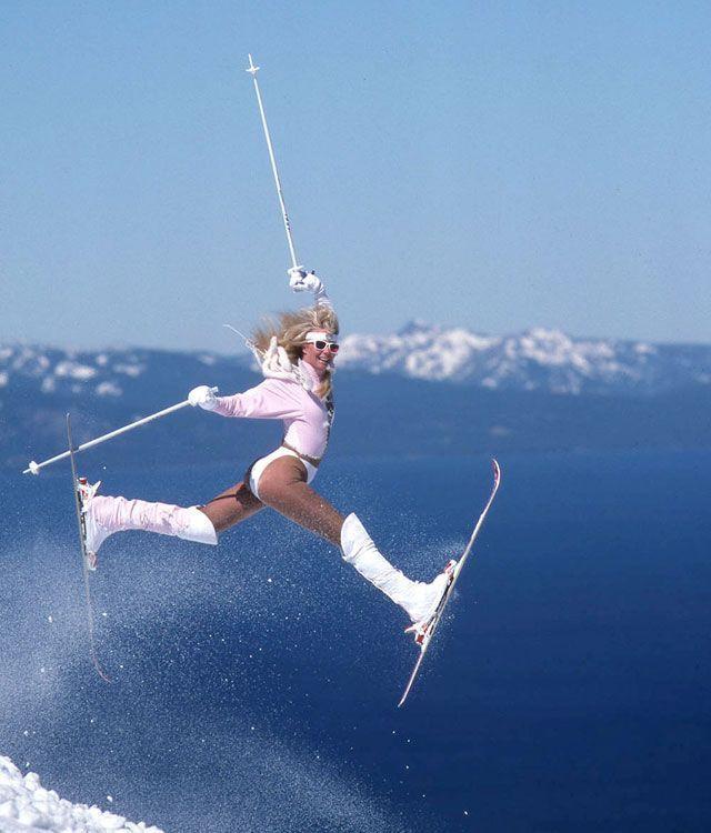 Смешные картинки с лыжами, сделать открытку новому