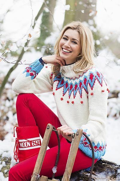 uit Libelle 06-2015 Noorse trui om zelf te breien.  www.libelle.nl