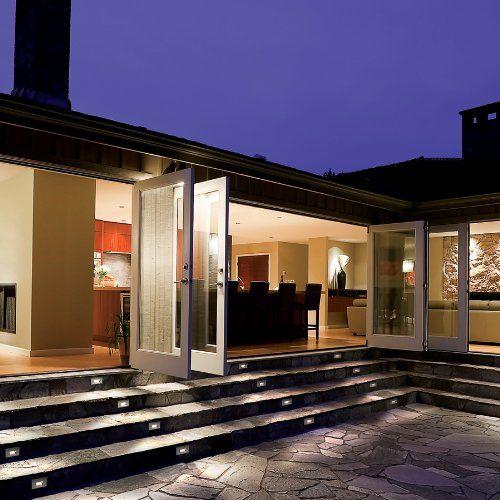 WAC Lighting WL LED100 C BN LED Step Light Rectangular Scoop   Outdoor