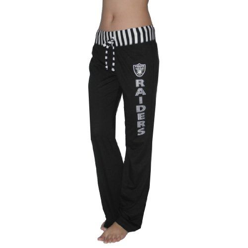 NFL Oakland Raiders Womens Comfortable Casual-wear Lounge pants / Yoga Pants - Black (Size: M) - Excellent product by NFL Product Features  100% Authentic NFL merchandise, satisfaction guaranteed Comfortable  lightweight fabric: 60% cotton, 40%