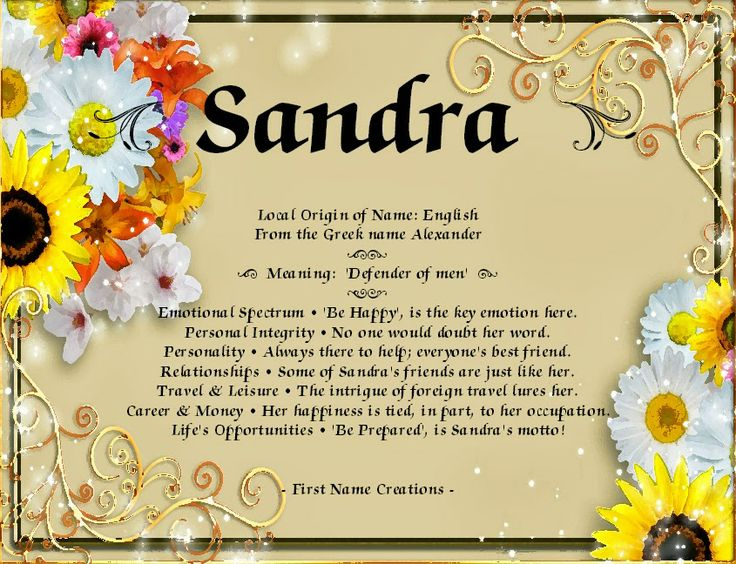 sandra name coloring pages - photo#36