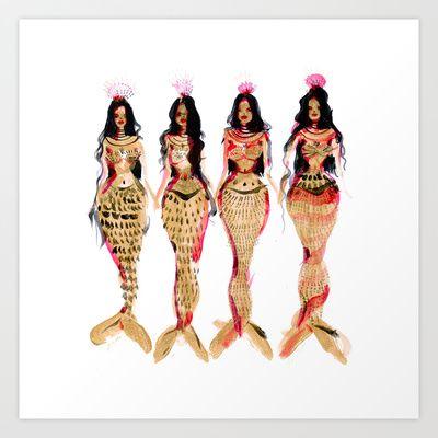 Olivian Mermaids Art Print by Charmaine Olivia | Society6