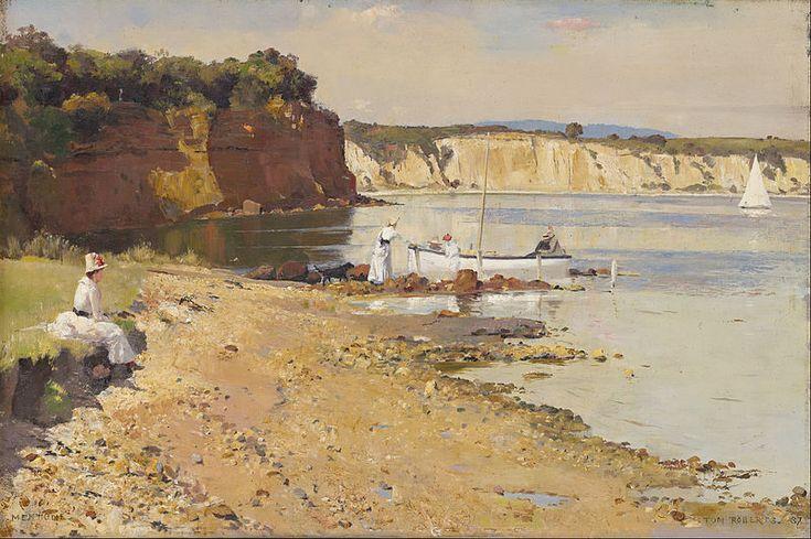 Roberts, Tom, (1856-1931), Slumbering Sea, Mentone, 1887, Oil
