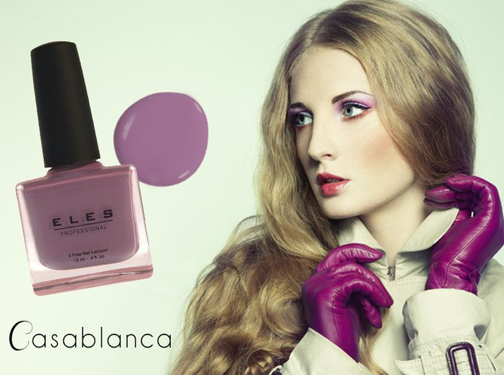 ELES Cosmetics Mineral Makeup Australia nail polish Casablanca purple violet  #ELES #nails #nailpolish #beauty #autumn #winter #5free #classic