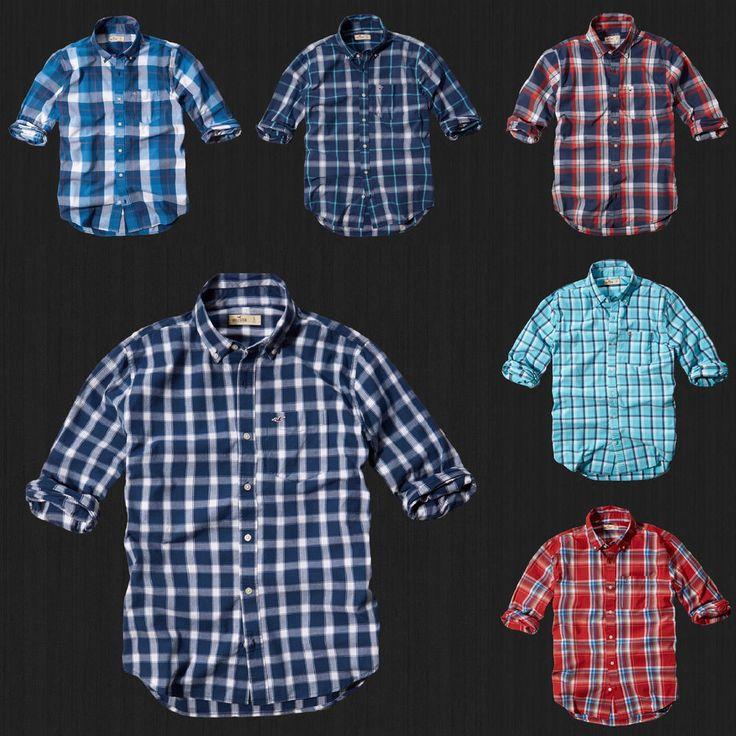 NWT HOLLISTER By Abercrombie Men Boneyard Beach Classic Plaid Shirt  All Size #Hollister #ButtonFront
