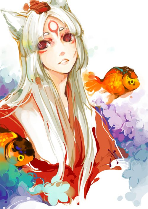 Amaterasu: Japanese goddess, uniqe as one of the few women to personify the SUN.