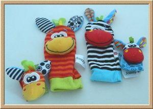 Sozzy Wrist and Sock Rattles - Zebra Design