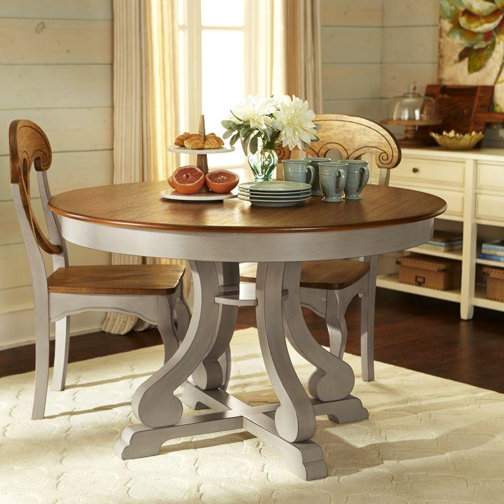 Grey Kitchen Dining Sets: Marchella Dining Set - Linen Gray - Hardwood