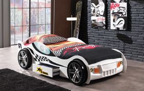 Turbo Car Bed. Available in White, Red & Blue.