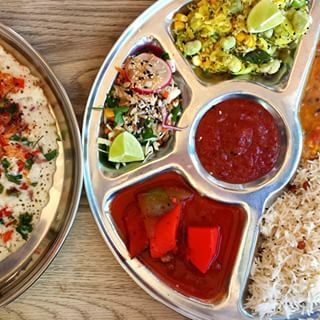 Vegetarian curry at Thali Cafe- Clifton, Easton, Montpelier, Southville | 18 Things Everyone Needs To Eat In Bristol