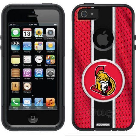 Chicago Blackhawks Primary Logo Design on OtterBox Commuter Series Case for Apple iPhone 5SE/5s