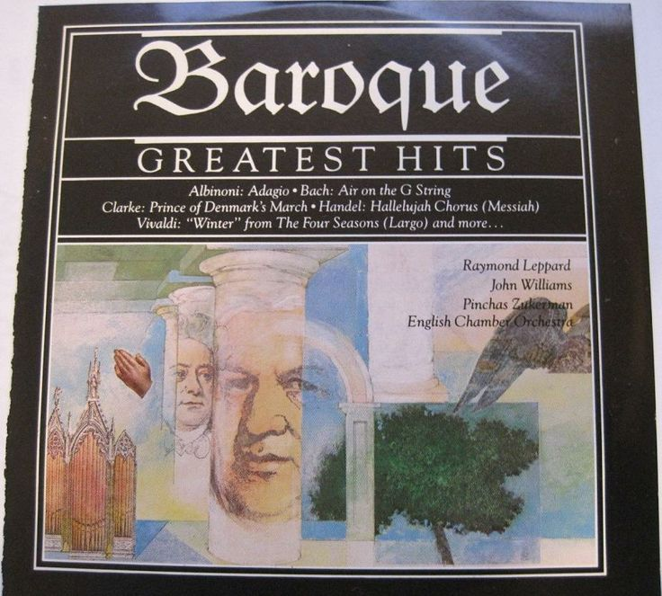 1989 Baroque Greatest Hits (CBS Masterworks) [CBS MLK45738 / 074644573824] cover illustration by Michael Ng #albumcover