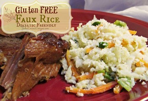 Gluten free rice recipe; faux rice. diabetic friendly