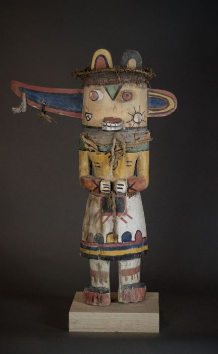 Nu in de #Catawiki veilingen: Special KACHINA Doll from the HOPI Indians with wing ears. Amerindians ; USA.