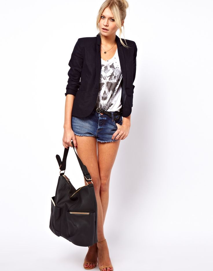 Image 4 ofASOS Linen Tailored Blazer