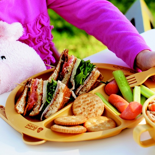 Multi plate is designed for babies and toddlers to have an easy ability to pick up their food due to the design of the curved edges as well as having sections to place multiple foods. Eco-friendly, non-toxic, biodegradable, natural, microwave-friendly! Available at www.kidsberry.com.au