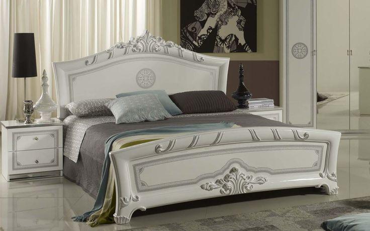 Geena White High Gloss Italian Made Bed Frame