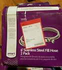 Smart Choice - 6' Stainless-Steel Washing Machine Fill Hose (2-Pack) new in box