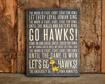 16x20 Custom Designed Iowa Fight Song Subway Sign by ELPhotoDesign
