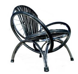 #BeautifullyUpcycled This design puts a spin on the traditional chair using recycled bicycle parts #upcycled Upcycled design inspirations