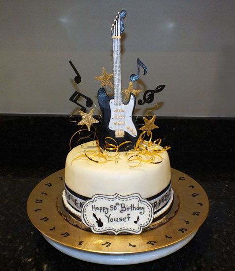 Birthday Cake Designs With Guitars On