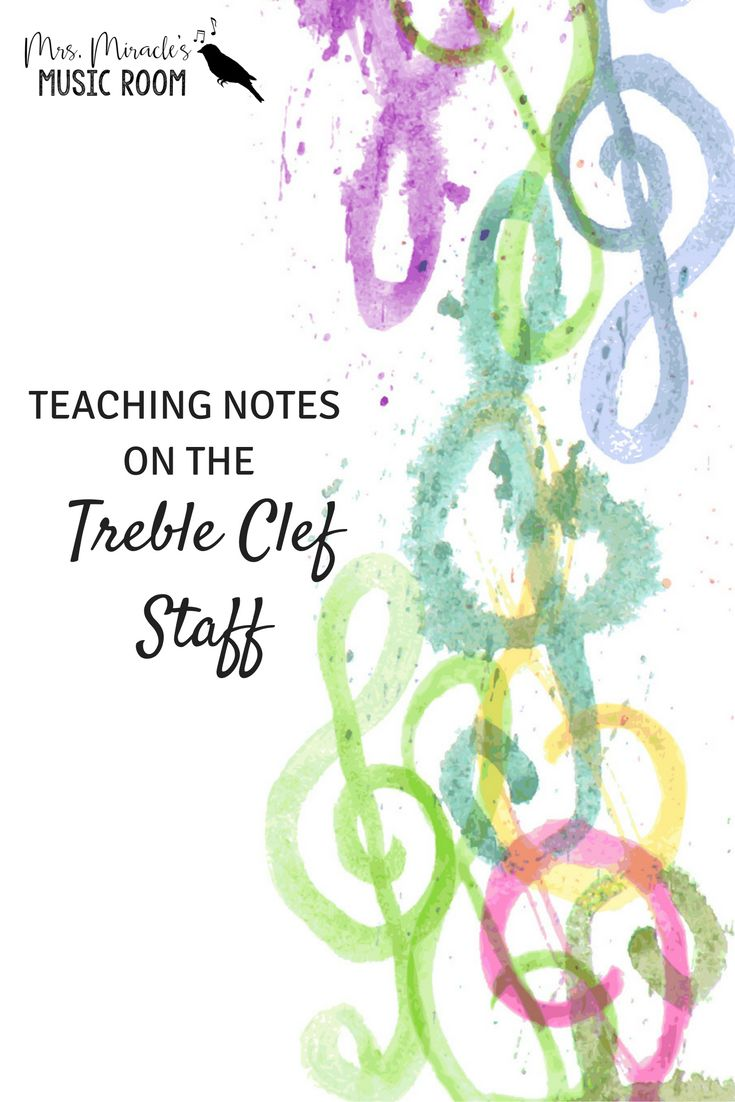 Teaching notes on the treble clef staff: A new way of teaching to ensure  success